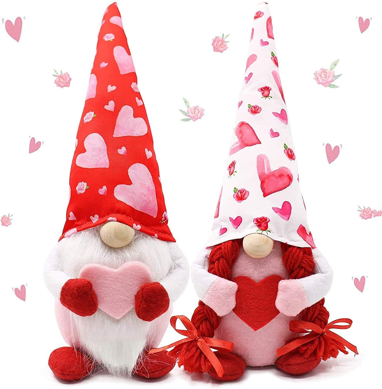 Valentines Day Decor Now free shipping 2PCS Cute D Cheap SALE Start Faceless Gnome Santa