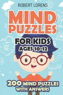 Mind Puzzles for Kids Ages 10-12: Star Battle Puzzles - 200 Brain Puzzles with Answers (Math and Logic Puzzles for Kids)