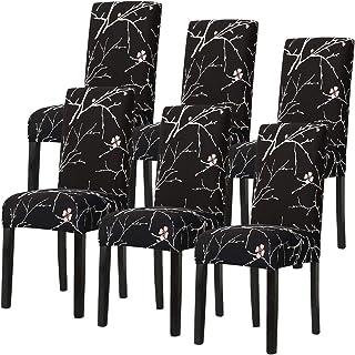 Fundas de Silla de Comedor Elásticas y Modernas,Extraíbles y Lavables, Fundas de Licra para sillas