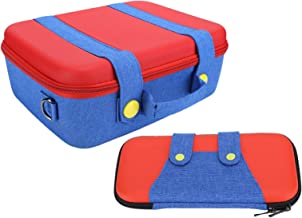 $41 » Adjustable Storage Bag Brand New Unique EVA Packet Large/Small Game Machine Cowboy Handle for Switch(Red and blue)