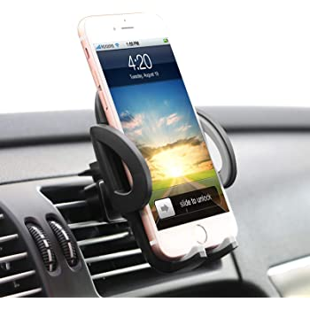 ilikable Air Vent Phone Holder - 360 Rotation Car Cell Phone Mount - Car Holder Compatible with Smartphone Android iPhone GPS Devices, Black