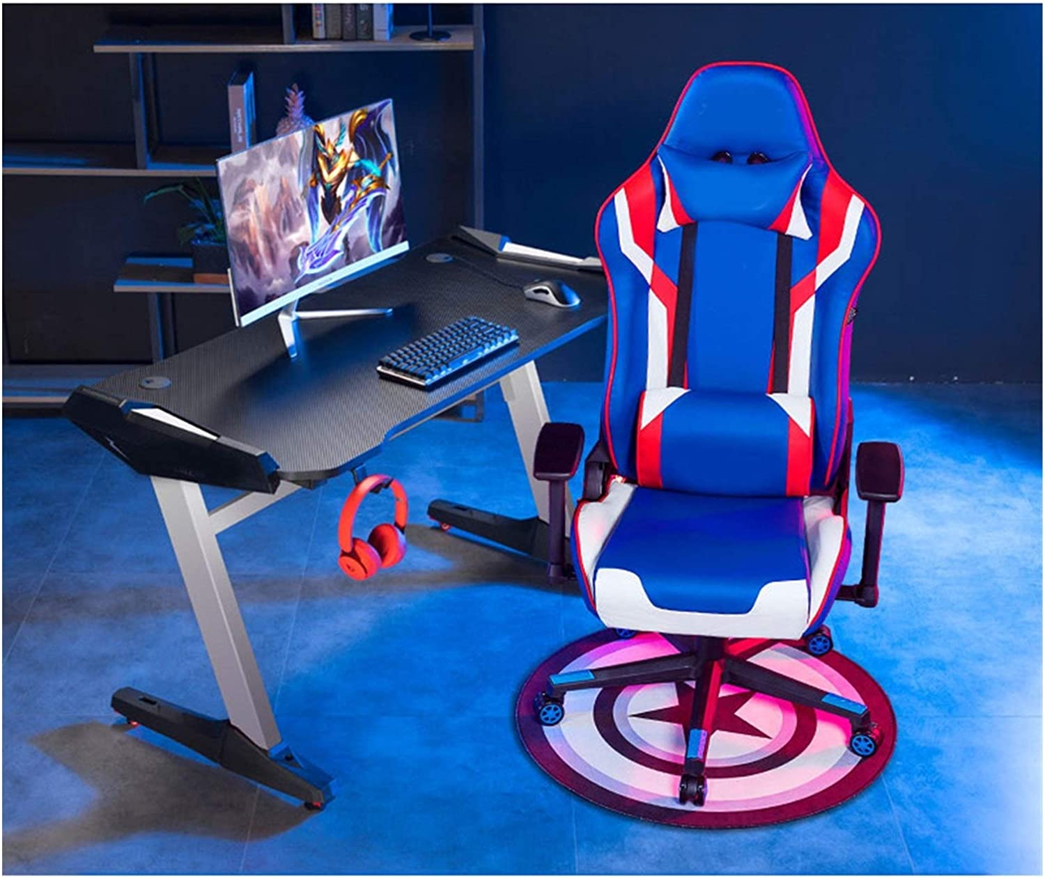 Gaming Rocker Chair and Desk El Paso Mall Excellent Style Set Home Offic Racing