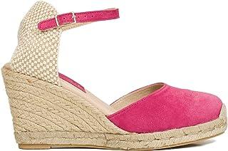 95de9310 Zapatos miMaO. Zapatos Piel Mujer Hechos EN ESPAÑA. Cuñas Esparto Mujer.  Sandalias Plataforma