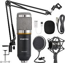 ZINGYOU Condenser Microphone Bundle, BM-800 Mic Kit with Adjustable Mic Suspension Scissor Arm, Shock Mount and Double-Layer Pop Filter for Studio Recording & Brocasting (BM-800 Microphone Bundle)