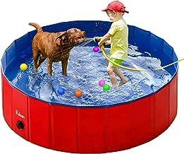Fuloon PVC Pet Swimming Pool Portable Foldable Pool Dogs Cats Bathing Tub Bathtub Wash Tub Water Pond Pool Pet Pool & Kidd...