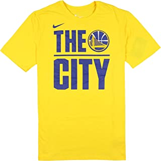 Men's Golden State Warriors The City T-Shirt Large Yellow Royal Blue