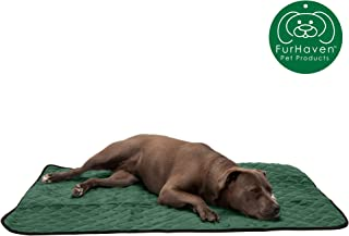 Furhaven Pet Dog Bed Mat   Insulated Self-Warming Pet Bed Mat, Water-Resistant Thermal Throw Blanket, & Absorbent Chenille Bath Towel Rug for Dogs & Cats - Available in Multiple Styles & Sizes
