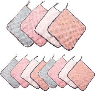 ZEEREE Serviette de Nettoyage pour la Cuisine en Microfibre,Chiffon de Nettoyage Absorbant Réutilisable,pour Cuisine Ménag...