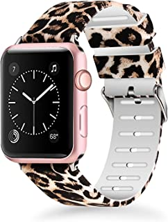 Sponsored Ad - Lwsengme Compatible with Apple Watch Band 38mm 40mm 42mm 44mm, Soft Silicone Replacment Sport Bands Compati...