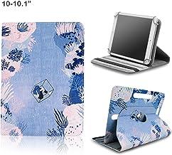 BEISK, Funda Universal para Tablet de 10-10.1 Pulgadas, con Sistema Giratorio de 360º, Rotación, Protección, con Soporte, para Huawei Mediapad/Samsung Galaxy Tab/iPad/Lenovo TAB4 10, Etc. Corales