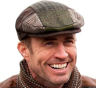 Irish Tweed Patch Cap, Trinity Style, 100% Irish Wool, Made in Ireland