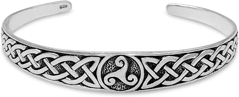 Sales 81stgeneration Women's .925 Sterling Triskeli Max 71% OFF Knot Celtic Silver