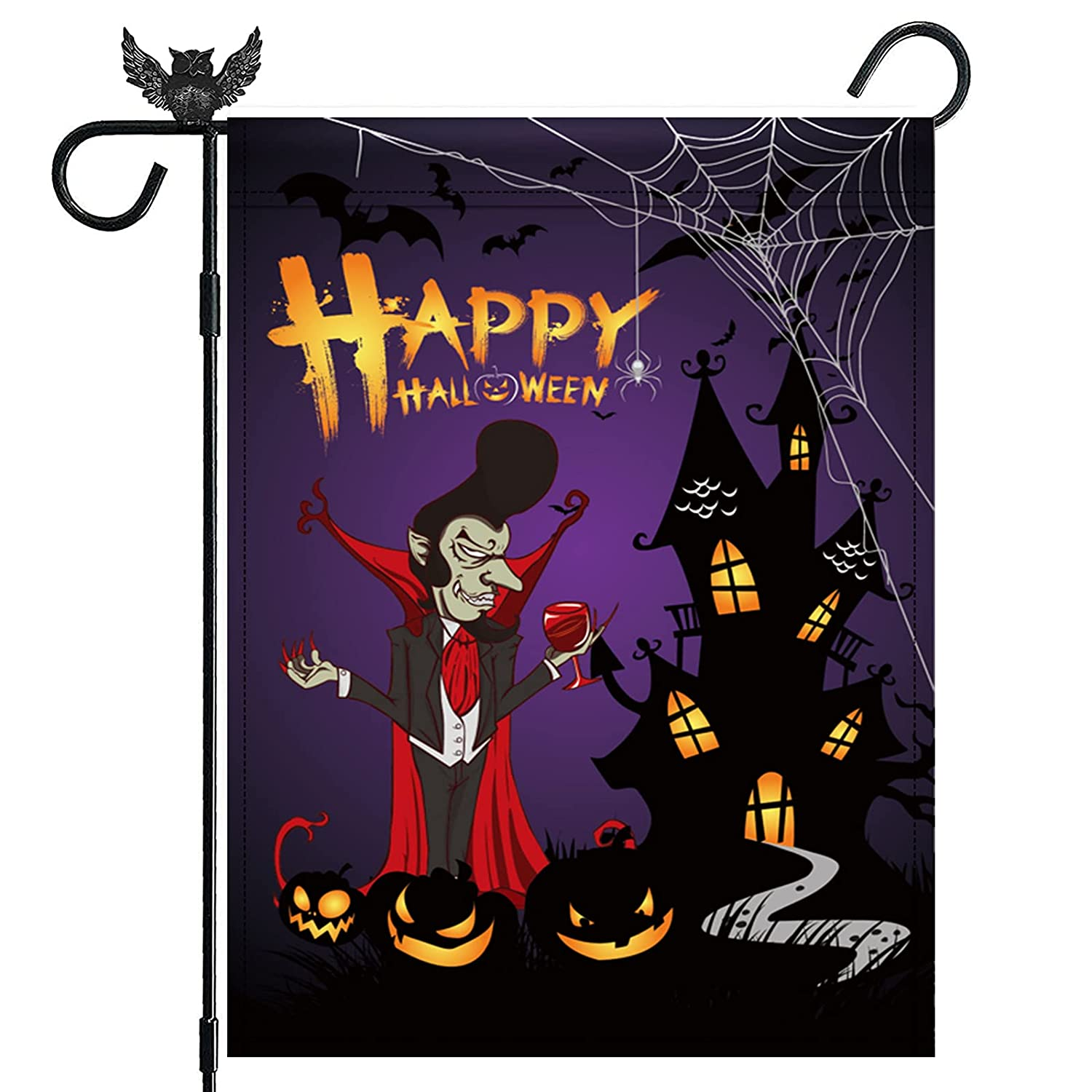Halloween Garden Cheap bargain Flags for Outdoors 28 Inch Ha x 40 Double Sided 4 years warranty