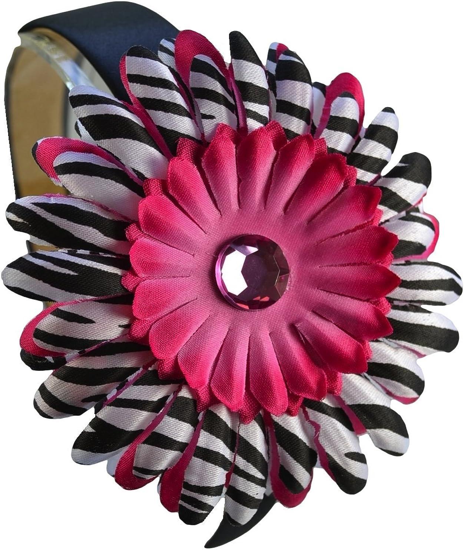 Girls Zebra Print Daisy Arch Headband