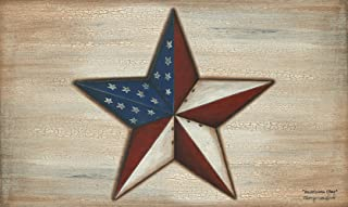 Toland Home Garden American Star 18 x 30 Inch Decorative Floor Mat Rustic Patriotic USA Stars Stripes Doormat