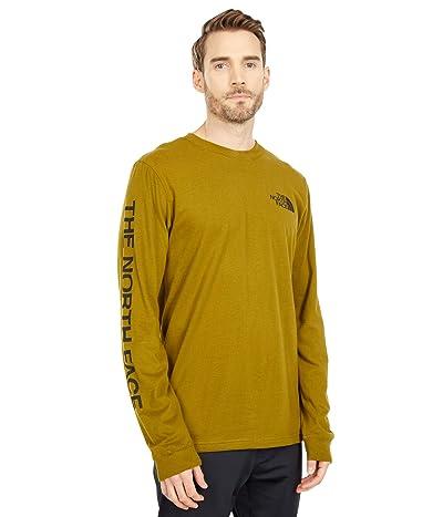 The North Face Long Sleeve TNFtm Sleeve Hit T-Shirt (Fir Green/TNF Black) Men