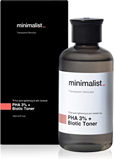 Minimalist PHA 3% Alcohol Free Toner, 150 ml | Pore Tightening & Mild Exfoliation For Oily, Acne Prone, Sensitive & Normal...