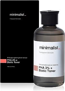 Minimalist PHA 3% Alcohol Free Face Toner, 150 ml | Pore Tightening & Mild Exfoliation For Oily, Acne Prone, Sensitive & N...