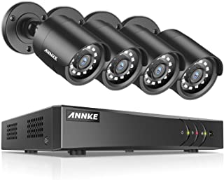 ANNKE 8CH Surveillance Camera System 5MP Lite DVR,(4)2MP 1920TVL Super HD Home CCTV security Cameras for Outdoor/Indoor Us...