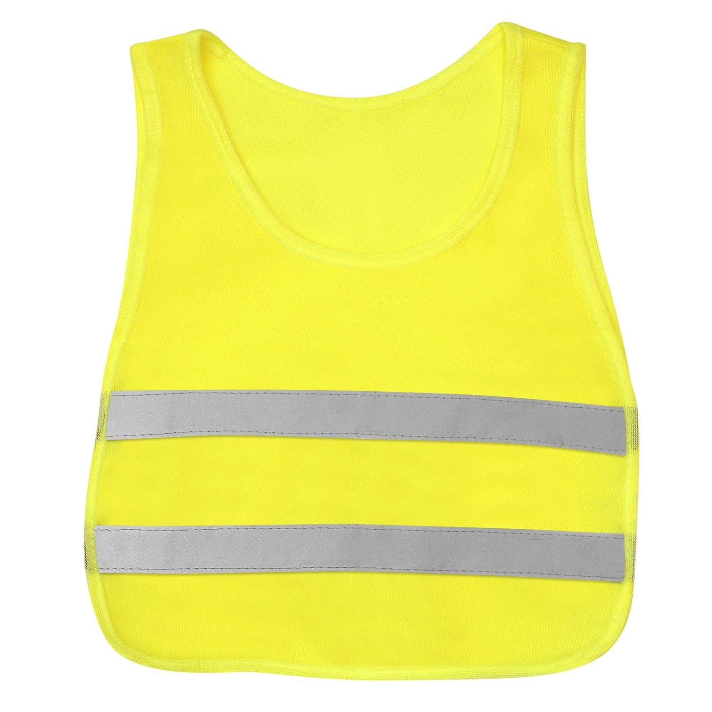 KidCo Hi Vis Reflective Vest - Yellow Neon - Illuminate Kids at Play During Daylight, Dawn and Dusk