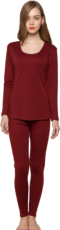 Alexander Women's Wool Silk Knitted Thermal Underwear Pajama Set