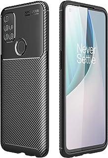 جراب XINKOE لهاتف OnePlus Nord N10 5G، غطاء نحيف للغاية [عملية ألياف كربونية] [نحيف] [متين] لهاتف OnePlus Nord N10 5G-أسود