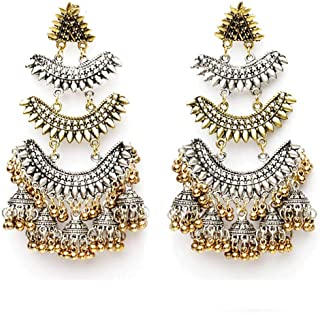 Total Fashion Naira Designer Traditional Oxidized German Silver Two Tone Plated Handicraft Danglers Earring For Women And ...
