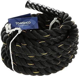 comprar comparacion TOMSHOO Cuerda de Batalla Battle Rope Cuerda Fitness Formación Ejercicio de Diámetro de 38mm Longitud de 10m/12m/15m