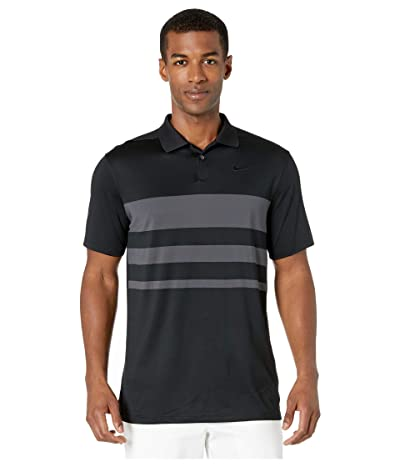Nike Golf Dry Vapor Polo Stripe (Black/Dark Smoke Grey/Black) Men