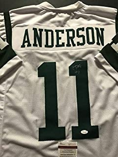 Robby Anderson (New York Jets) Autographed Jersey - White COA - JSA Certified - Autographed NFL Jerseys