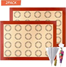 APLUGTEK Silicone Baking Mats, Non Stick Macaroon Baking Mat, Perfect Silicone Liner for Making Macarons, Pastry, Pizza, B...