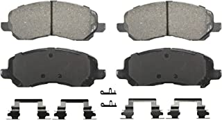 Wagner QuickStop ZD866 Ceramic Disc Pad Set Includes Pad Installation Hardware, Front