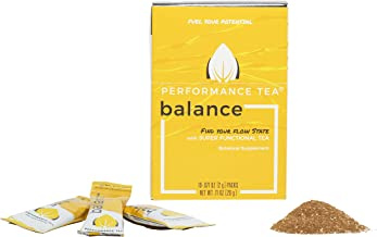 Performance Tea Balance with Lemon - Adaptogen Instant Powder Iced Tea Mix – Add Honey for a Natural Drink that Helps Reduce Stress (10 Single Serve Packets)