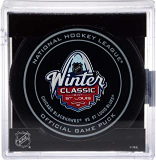 Chicago Blackhawks vs. St. Louis Blues 2017 NHL Winter Classic Unsigned Official Game Puck - Unsigned Pucks