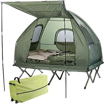 Semptec Feldbettzelt: 4in1 Zelt mit Feldbett, Winter