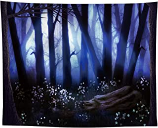 Allenjoy 10x8ft Halloween Misty Forest Backdrop for Newborn Pet Portrait Photography Party Supplies Wall Deocrations Scary...