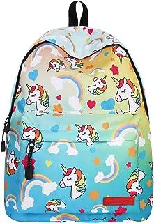 Unicorn Waterproof Backpack Pupils School Bags Girls Bookbags Notebook Traveling Knapsack