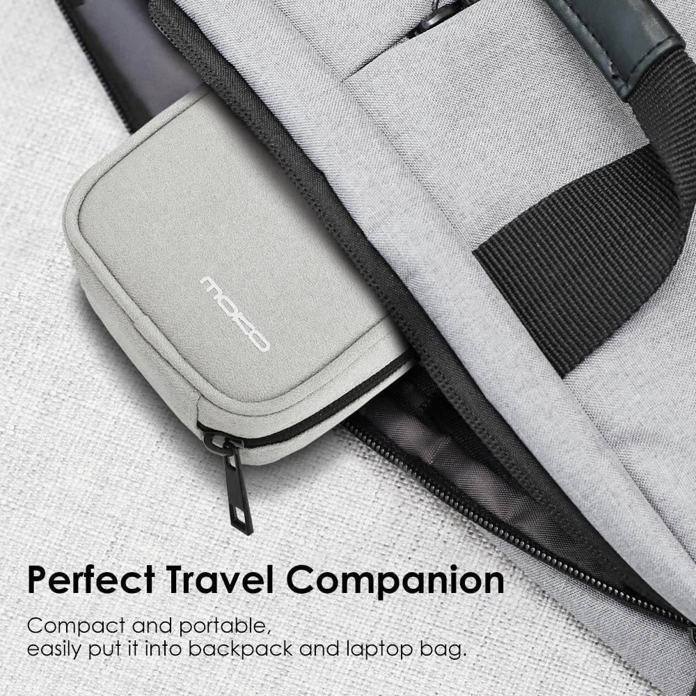 USB Cables AirPods Magic Mouse Beige Earphones MoKo Protective Case for MacBook Power Adapter Anti-Scratch Organizer Bag Small Storage Travel Pouch for Laptop MacBook Charger USB Drives