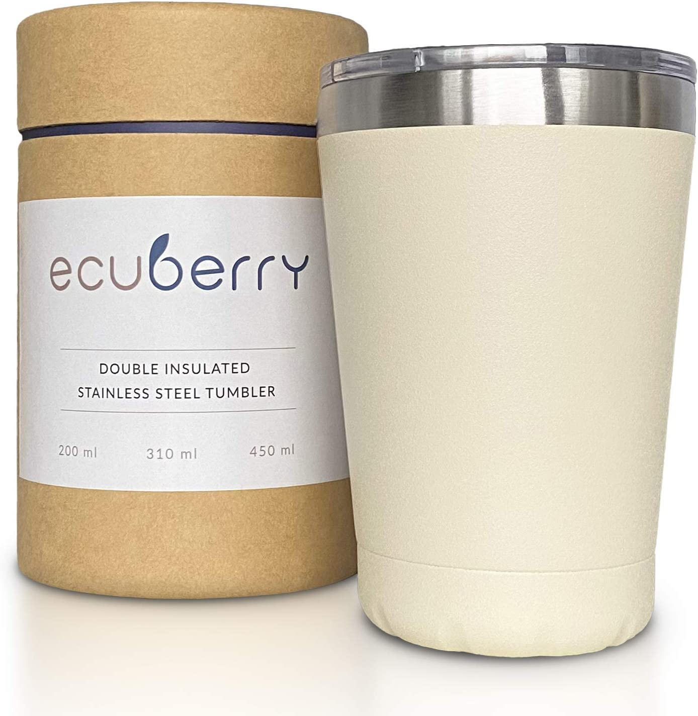 Ecuberry Taza de café expreso de 200 ml, de acero inoxidable, aislada al vacío, tapa deslizante a prueba de fugas, taza térmica de doble pared, taza de café y té para el hogar, oficina, coche