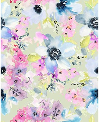 ArtzFolio Watercolor Flowers Pattern D1 Peel & Stick Vinyl Wall Sticker 12inch x 15inch (30.5cms x 38.1cms)