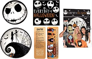 Tim Burton's Nightmare Before Christmas Halloween Party Decorating Kit: Plates, Napkins, a Scene Setter with Photo Props and an Exclusive ElevenPlus2 Halloween Safety Bookmark