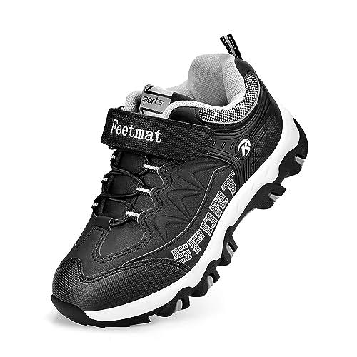 d4fa880510 Feetmat Boys Hiking Shoes Waterproof Kids Sneaker