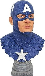 Legends In 3-Dimensions: Marvel Comics Captain America 1: 2 Scale Bust, Multicolor