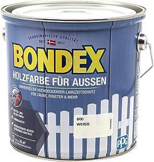 Bondex Holzfarbe für Aussen Weiss 2,5 L - 428252