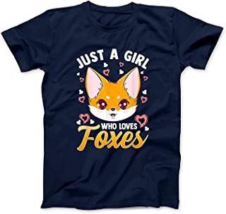 Mint Mama Just A Girl Who Loves Foxes Kids Girls Cute Fox Gift Mom T-Shirt