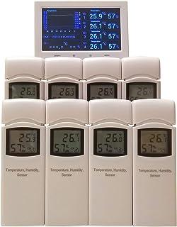 8地点自動計測 温湿度計 DXパッケージ ワイヤレス HACCP準拠 SDカード保存 業務用 簡易防水