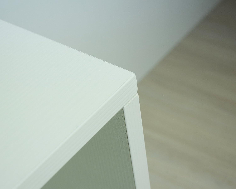 /él/ément Bas Ouvert /_Produit Italien/_Livraison Gratuite Bianco MIT Design Store Petit Meuble /à roulettes ARES