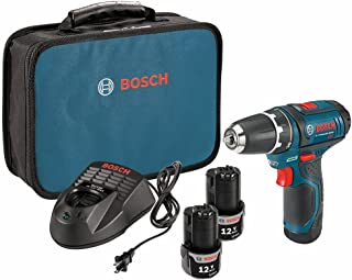 BOSCH PS31-2A 12V Max Lithium Ion 3/8in Compact 2 Speed Cordless Drill Driver Kit (Renewed)