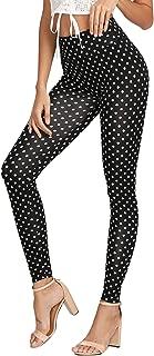 Women's Yoga Soft Striped Tape Side Elastic Waist Slimming Leggings