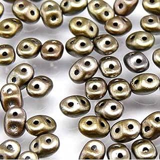 Superduo Crystal Grey Rainbow 2.5x5mm 2 Hole Beads Czech Glass Seed Beads 100 Gram Bag